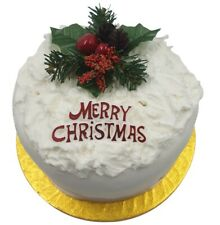 Cake Decoration Set Berry Fir-cone / Foliage / Holly With MERRY CHRISTMAS Sign