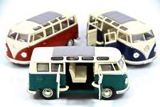 "3PC SET: 7"" Kinsmart 1962 VW Volkswagen Bus Diecast Model Toy Car Van 1:24"