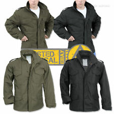 Polycotton Collared Zip Military Coats & Jackets for Men