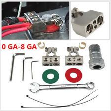 1Set Terminales De Bateria De Calibre 0GA-8GA Con Positive Negative Battery Clip