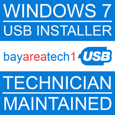 Windows 7 USB Installer - All Editions - Install, Repair, Upgrade - SSD, HDD