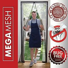 Fly Screen Door Magnetic - Heavy Duty Bugs HACCP Fits Doors to 34 x82