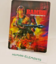 RAMBO 2 first blood ii Lenticular 3D Flip Magnet Cover FOR bluray steelbook