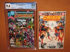 Crisis on Infinite Earths #9 CGC 9.6! BONUS reprint in MYLAR 12pix Ships INSURED