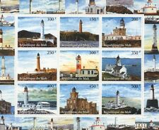 LIGHTHOUSES OF THE WORLD COASTAL SCENERY REPUBLIQUE DU MALI MNH STAMP SHEETLET