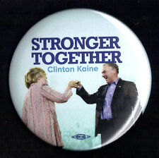 "2016 Hillary Clinton/Tim Kaine - 3""(Large) / ""Stronger Together"" Button(Pin 20L)"