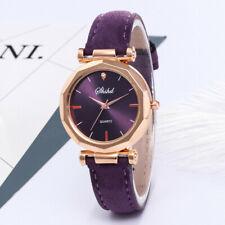 Women Leather Casual Watch Luxury Analog Quartz Fashion Crystal Dress Wristwatch