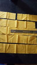 fabric scraps yellow cotton new