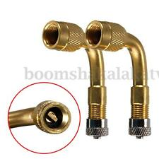 2Pcs Car Bike Motor Scooter Air Tyre Valve Brass 90 Degree Right Angle Adaptor