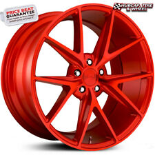 "Niche M186 Misano Gloss Candy Red 20""x9 Custom Wheels Rims (set of 4) NEW"