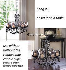 10 BLACK crystal chandelier CANDELABRA Candle holder wedding table decoration