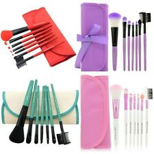 7 Piece Makeup Brush Set/Travel Case/Eyebrows/Eyelashes/Blush/Shadow/Soft Brush