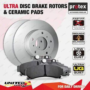 Front Ultra Disc Brake Rotors + Ceramic Pads for Volkswagen Passat 4Motion