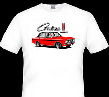 1967 - 1970  FORD  CORTINA  MK2 1600E  WHITE  TSHIRT   S M L XL XXL XXXL 4XL 5XL