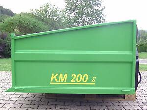 Heckcontainer, Kippmulde, Traktor, Schlepper, KM 200 s