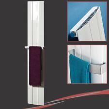 """280mm(w) x 1600mm(h) """"Thor"""" White Aluminium Designer Vertical Radiator 2475 BTUs"""