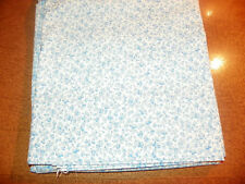 RALPH LAUREN- NEVER USED-QUEEN FLAT SHEET-BLUE & WHITE FLORAL 100% COTTON
