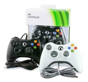 NEW BLACK WIRED CONTROLLER FOR Xbox 360 1 YEAR WARRANTY UK SELLER