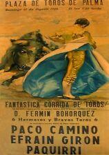 MAGNET BULLFIGHTING Spain PLAZA de TOROS de Palma 1966  Not Real Poster