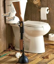 The Redneck Camping Cabin Lodge Toilet Bowl Plunger Rifle Shotgun BANG! NEW