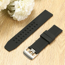 23mm Silicone Rubber Black Watch Band Strap Bracelet For Luminox Replacement  m