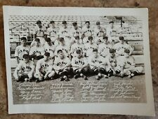 ORIGINAL 1939 ROCHESTER RED WINGS TEAM PHOTO CARDINALS MARION ROE CRABTREE