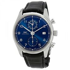 IWC Portugieser Chronograph Classic Steel 42 mm Blue Automatic Watch IW390303