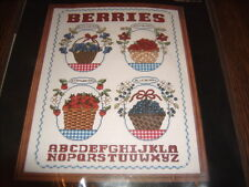 Janlynn Counted Cross Stitch Kit Berry Baskets New and Sealed
