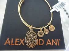 Alex and Ani Because I Love You MOM II Russian Gold Finish Bangle NWT Card & Box