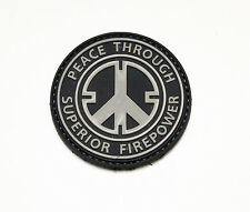 Morale Patch - Special Ops Gear - PEACE THRU SUPERIOR - SWAT URBAN - PVC