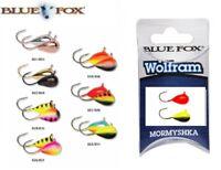 Blue Fox Wolfram Mormyshka Spinner Spoon Fishing Lure 0.5-4g Various Colours 2pc