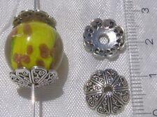 Lot de 12 COUPELLES 12mm en métal argenté intercalaires spacers pour perles *S23