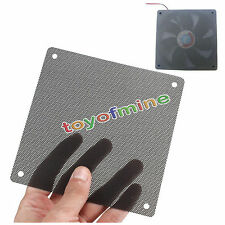 2Pcs 120mm PVC Black PC Fan Dust Filter Dustproof Case Computer Mesh