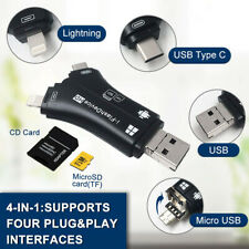 4 in 1 Multifunctional Adapter for iPhone, iPad, PC, Mac, Android, Card Reader