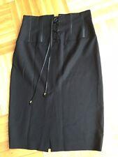 Bebe High Waist Corset Black Pencil Skirt 6 8 M L
