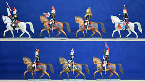 Starlux 'Luxe' - 7 Mounted Republican Guard in all 7 poses - 60mm painted