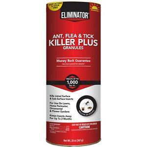 20oz Eliminator Ant, Flea & Tick Killer Plus Granules Fast Acting kill in 24hrs