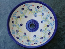 Star Thistle Hand-Painted Ceramic Vessel Sink