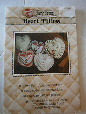 1979 Patch Press Heart Pillow Craft Sewing Pattern Pocket Sachet Tooth Fairy