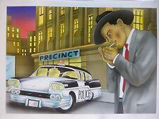 Titelbild Originalzeichnung Bastei Taschenbuch Schwarze Serie Achim Bock Auto 2