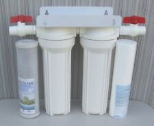 "10"" Whole House 2 stage filtration water system remove chlorine,chemicals 3/4"""