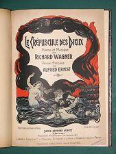 Partition ancienne piano et chant Le Crépuscule des dieux WAGNER bilingue