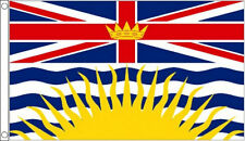 BRITISH COLUMBIA FLAG 5' x 3' Canada State Canadian Province Flags