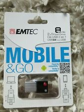EMTEC Mobile and Go 2 in 1 Flash Drive 8GB USB 3 micro