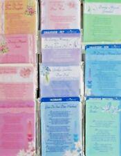 GRAVESIDE MEMORIAL CARDS, DAD, PET, DAUGHTER, WIFE, SISTER.