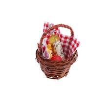 1:12 Dollhouse Miniature Food Basket Doll House For A Picnic Accessories#FR