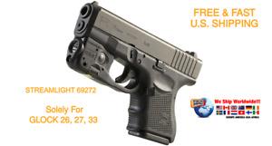 STREAMLIGHT 69272 TLR-6 Pistol Rail Mount Flashlight Red Laser GLOCK 26 27 33