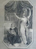 Allegorical Frontispiece Minerva Goddess of Wisdom 1805 American engraving print