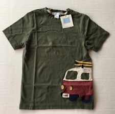 NWT Janie & Jack Surf Classic 5 5T Olive Green Surf Van Applique Tee