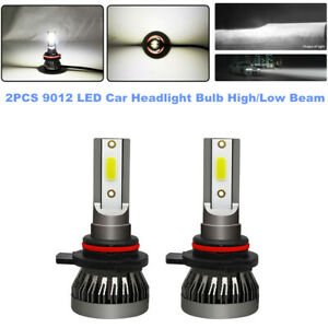 2PCS 9012 LED Car Headlight Lamp High/Low Beam Kit 80W 6000K 3000LM/ Bulb White